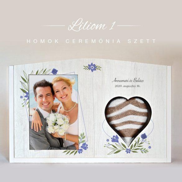 Homok ceremónia szett (Liliom - fehér)