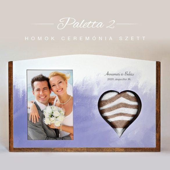 Homok ceremónia szett (Paletta - lila)