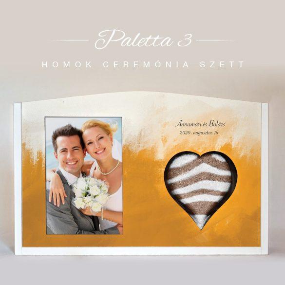 Homok ceremónia szett (Paletta - narancs)