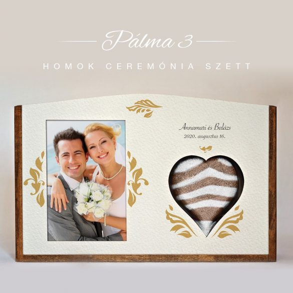 Homok ceremónia szett - Pálma 3