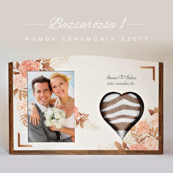 Homok ceremónia szett - Bazsarózsa 1