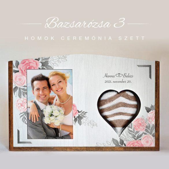 Homok ceremónia szett - Bazsarózsa 3