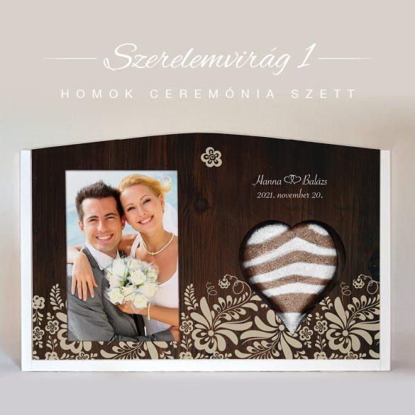 Homok ceremónia szett - Szerelemvirág 1