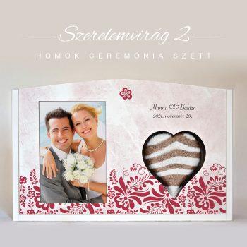 Homok ceremónia szett - Szerelemvirág 2