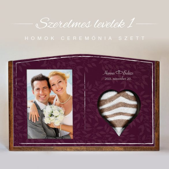 Homok ceremónia szett - Szerelmes levelek 1