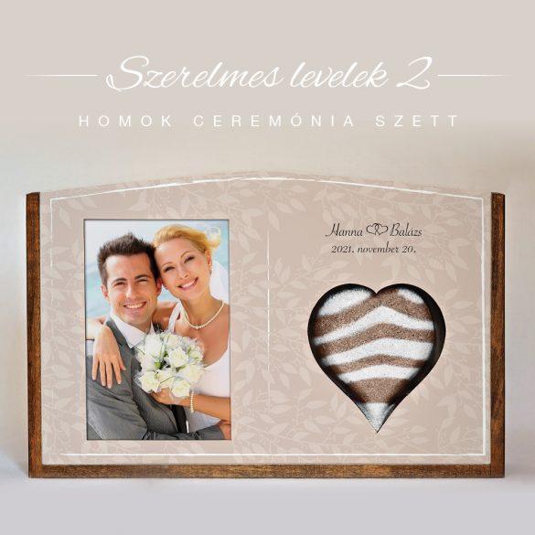 Homok ceremónia szett - Szerelmes levelek 2