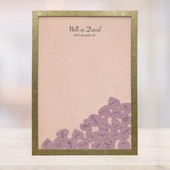 Szív bedobós képkeret - Abigél