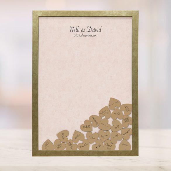 Szív bedobós képkeret - Alíz