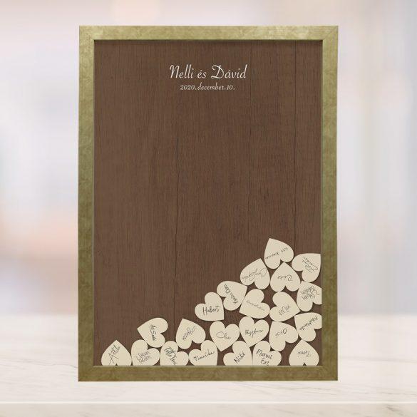 Szív bedobós képkeret - Barbara
