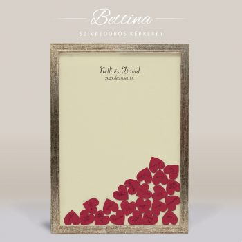 Szív bedobós képkeret - Bettina