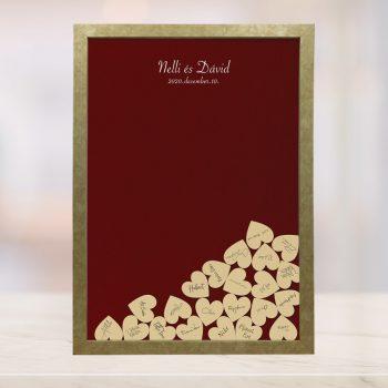 Szív bedobós képkeret - Boglárka