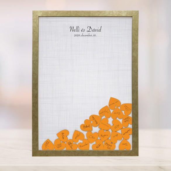 Szív bedobós képkeret - Cecília