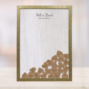 Szív bedobós képkeret - Diána