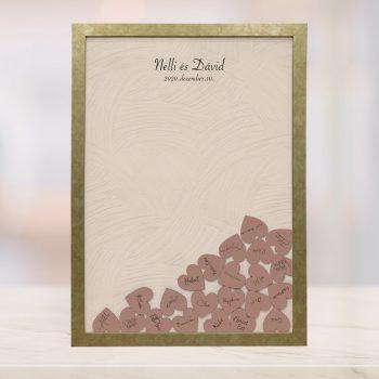 Szív bedobós képkeret - Dorottya