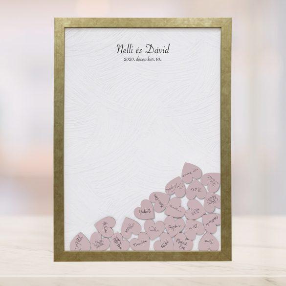 Szív bedobós képkeret - Eliza
