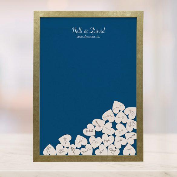 Szív bedobós képkeret (Kék)