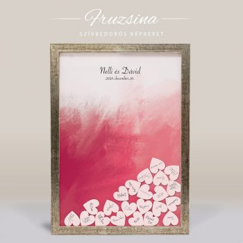 Szív bedobós képkeret - Fruzsina