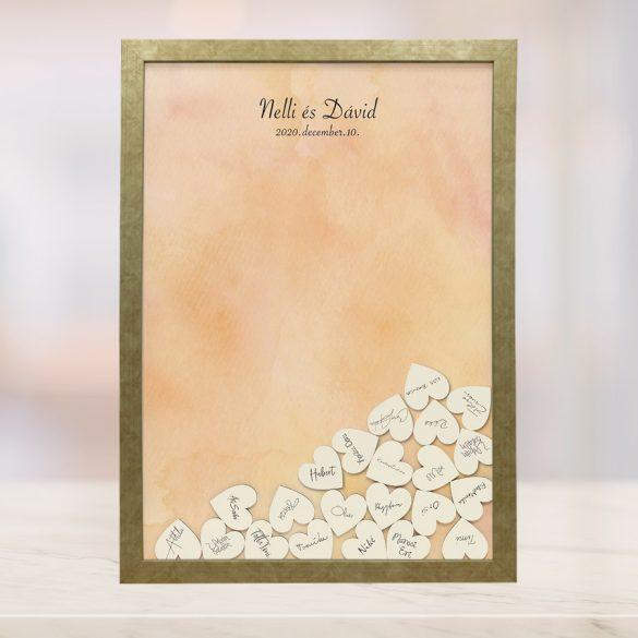 Szív bedobós képkeret - Glória