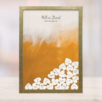 Szív bedobós képkeret - Gizella