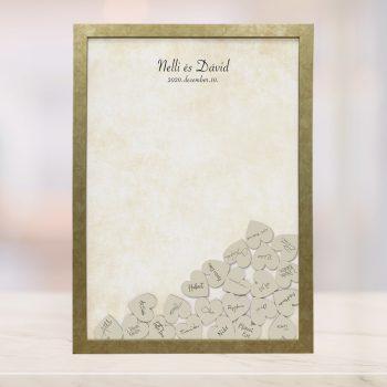 Szív bedobós képkeret - Hilda