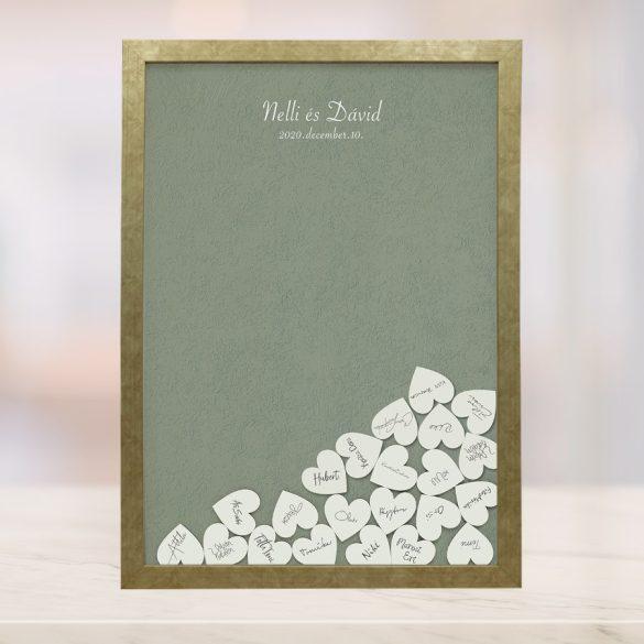 Szív bedobós képkeret - Júlia