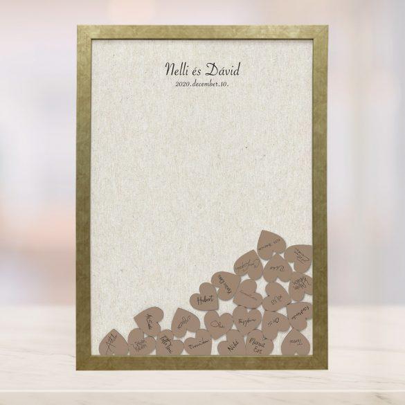Szív bedobós képkeret - Krisztina