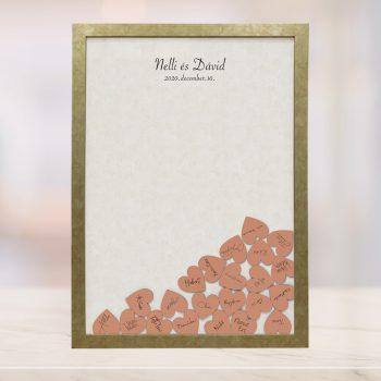 Szív bedobós képkeret - Lilien