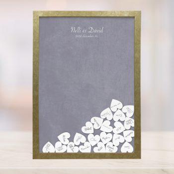 Szív bedobós képkeret - Mimi