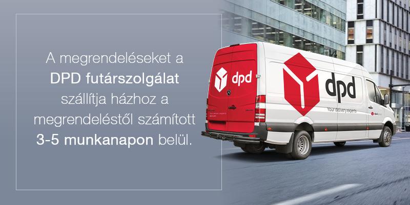 Házhozszállítás DPD futárszolgálattal.